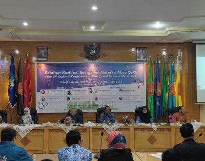 """Seminar Nasional Dengan Tema """"Energi dan Material Maju untuk Mendukung Visi Indonesia Maju 2024"""""""